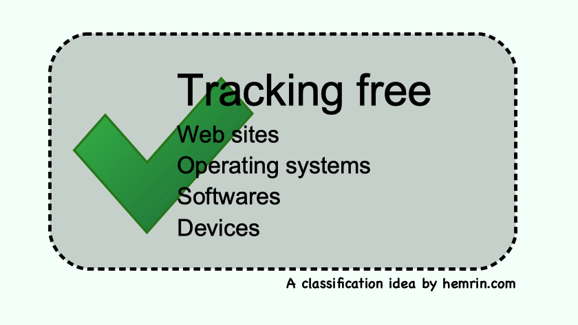 When will products be labelled as tracking free?